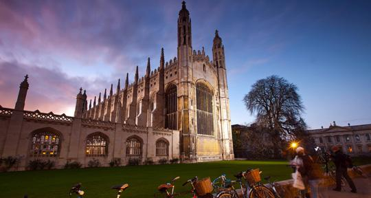 The iconic King's College Chapel of the University of Cambridge